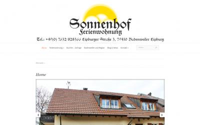 Ferienwohnung Sonnenhof Badenweiler – Lipburg